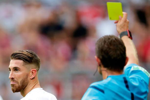 Sergio Ramos, el jugador con más tarjetas de la Champions (Cordonpress)