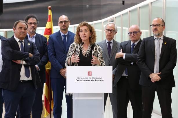 Consejera catalana de Justicia califica de gesto que no vale para nada que la Abogacía descarte el delito de rebelión