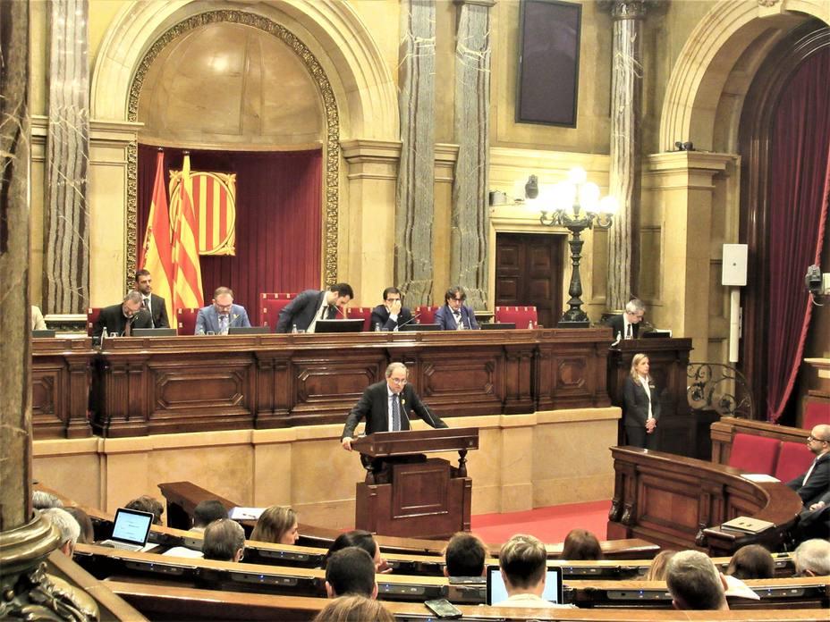 Torra pide intervenir el miércoles en el Parlament sobre actualidad política y judicial