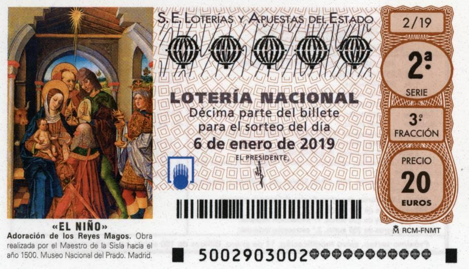 Décimo de Lotería de El Niño