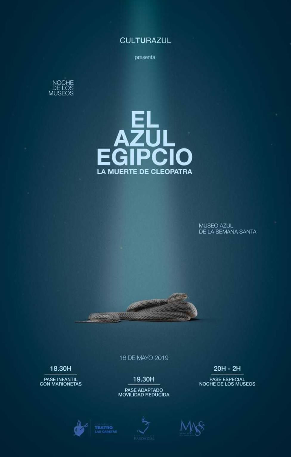"""El Paso Azul celebra la Noche de los Museos con """"El Azul Egipcio. La muerte de Cleopatra"""" en el MASS"""