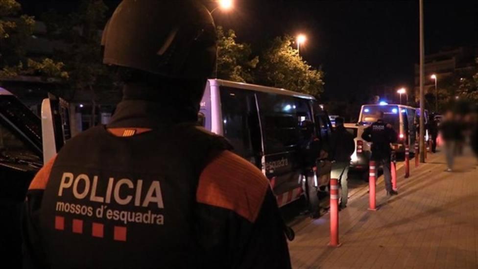 Mossos dEsquadra en el dispositivo de seguridad de Barcelona