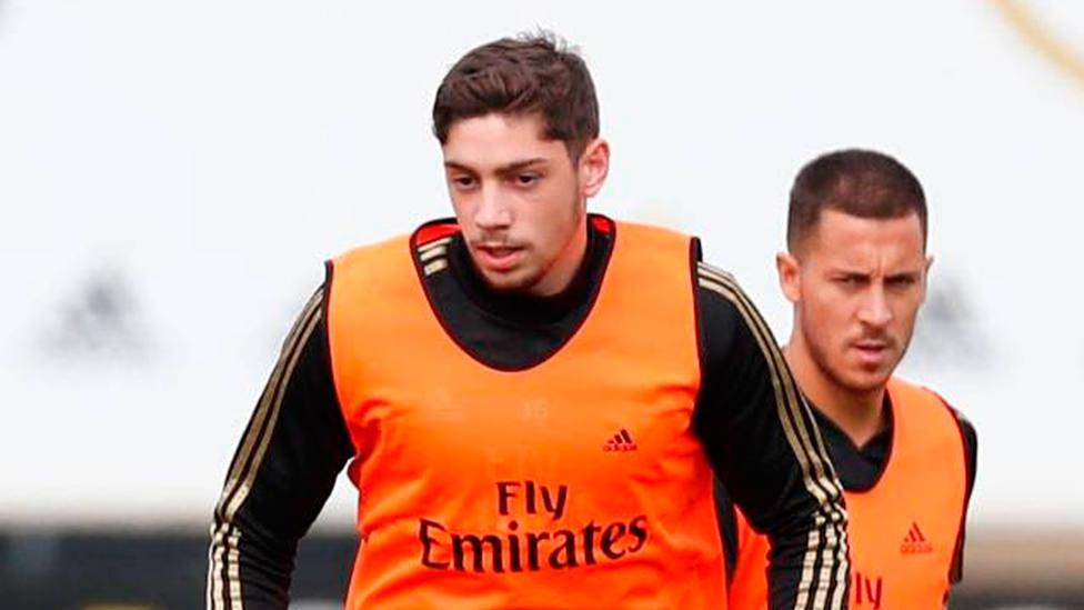 Fede Valverde, durante el entrenamiento del Real Madrid (FOTO: Real Madrid)