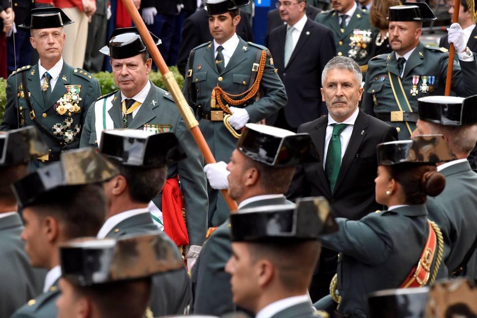 Celebración de la Guardia Civil en Huesca. Archivo