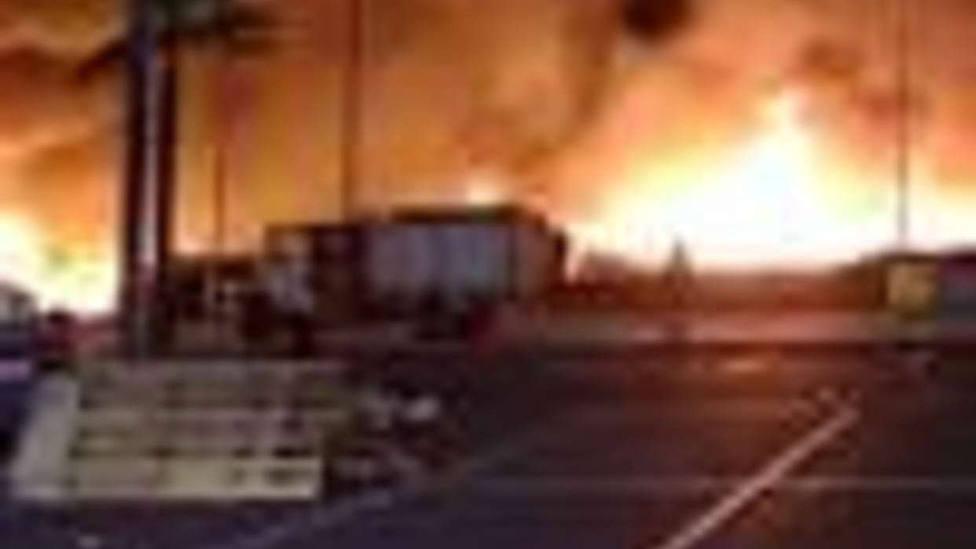 Arde un campamento chabolista de Lepe (Huelva) que sufrió un incendio la pasada madrugada