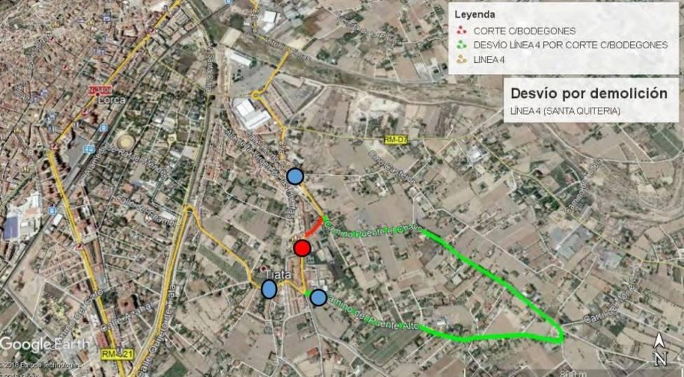 La Policía Local de Lorca establecerá normas especiales de circulación en el entorno de la calle Bodegones
