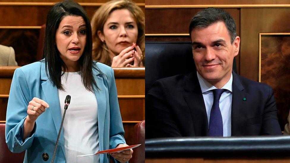 Arrimadas repasa ante Sánchez su lista de enchufados y al responder desata las risas del Congreso