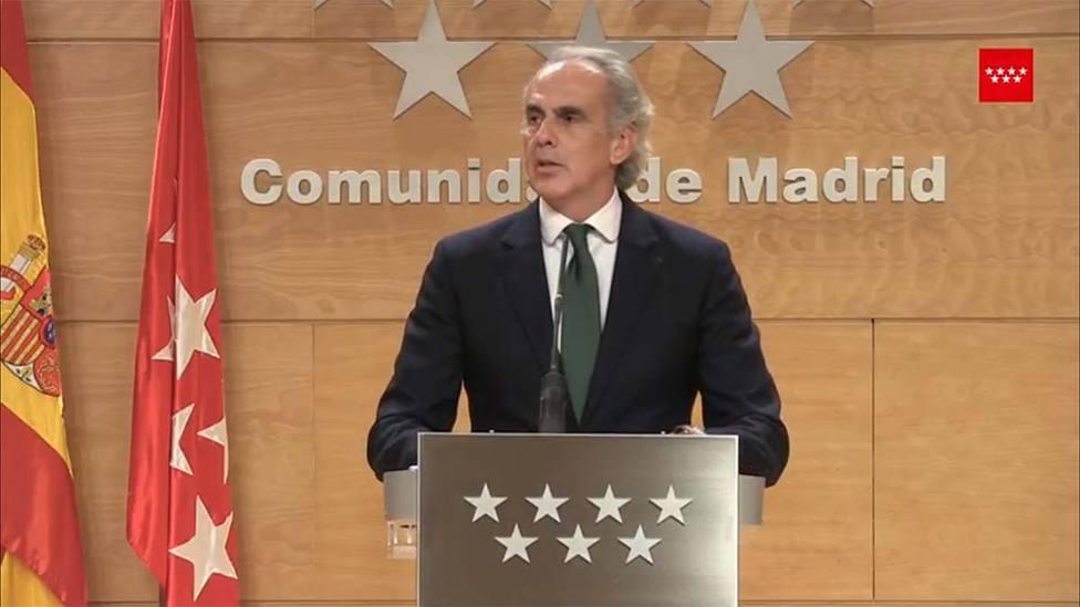 Consejero de Sanidad de la Comunidad de Madrid, Enrique Ruiz Escudero