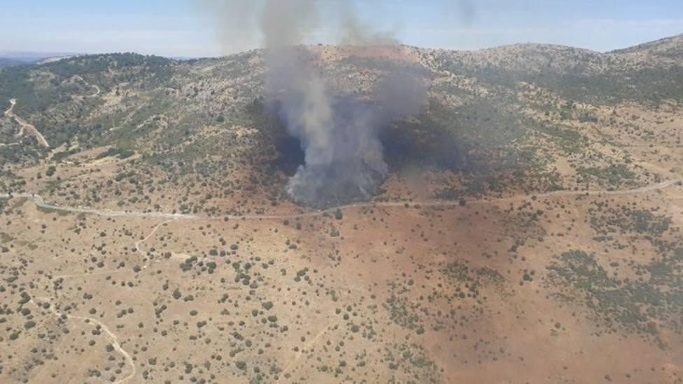 La Comunidad de Madrid activa el nivel 2 del incendio de Robledo y pide a la ciudadanía evitar la zona