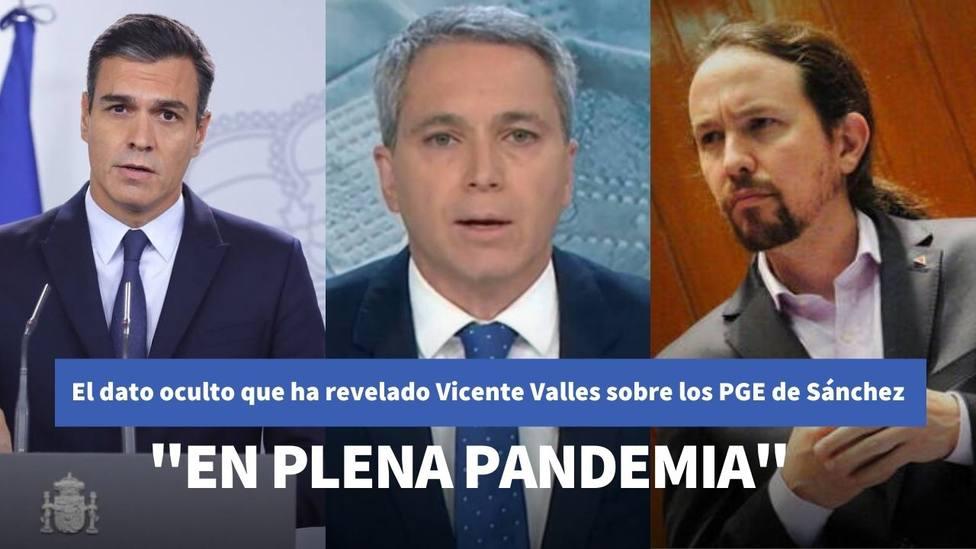Vallés revela el dato oculto de los Presupuestos de Iglesias y Sánchez que han escondido en su discurso