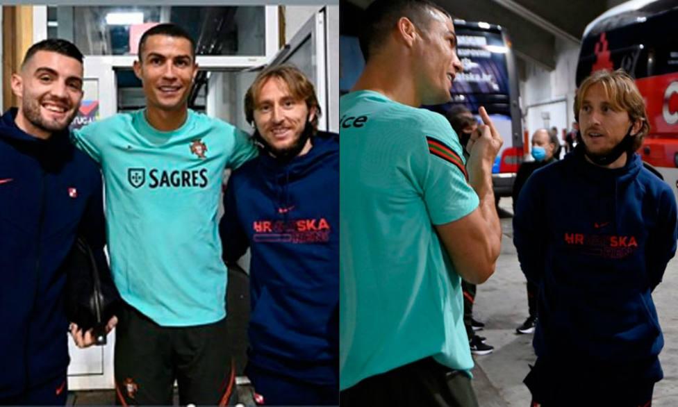 Modric y Cristiano Ronaldo