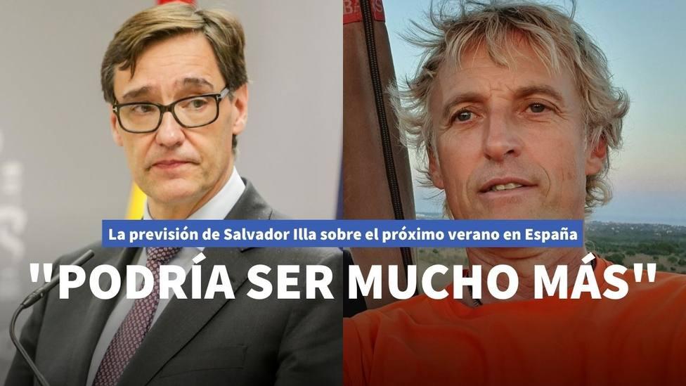 Salvador Illa y Jesús Calleja