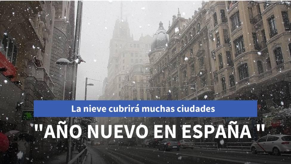 La nieve puede cubrir estas ciudades de España en el día de Año Nuevo