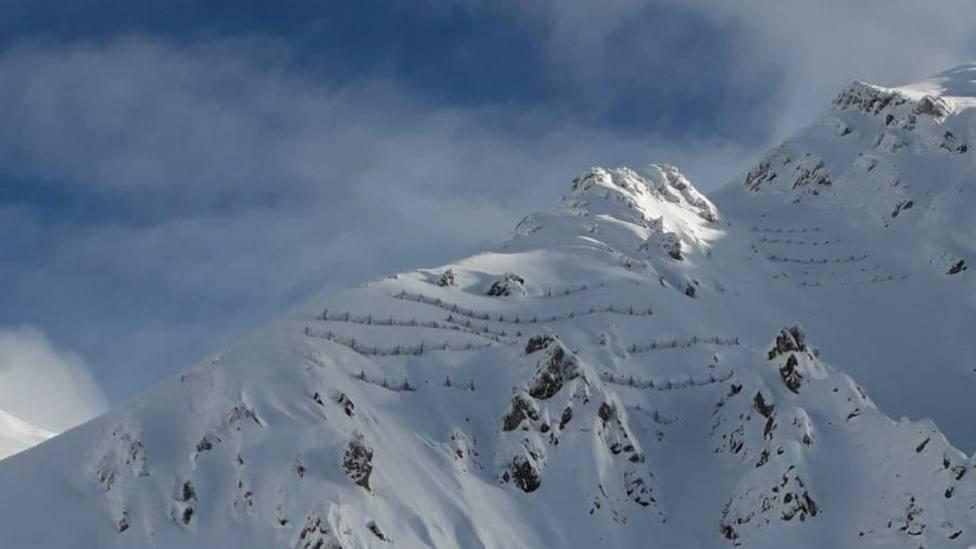 La Cordillera Cantábrica bajo la nieve