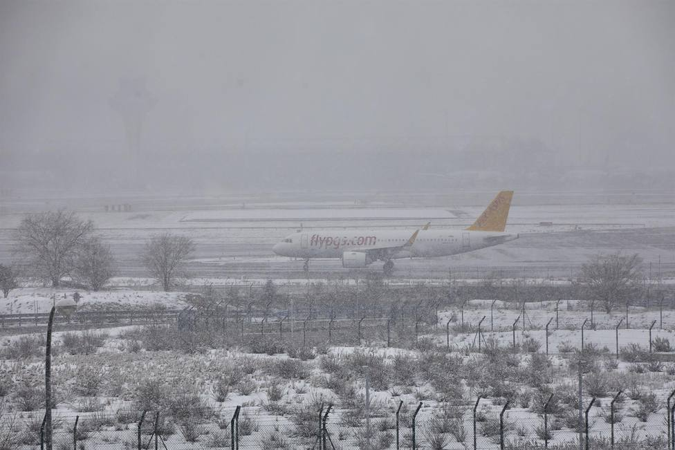 avión temporal Filomena