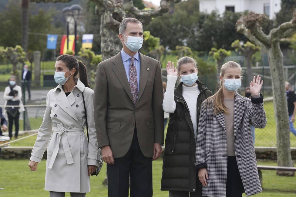 La Familia Real visitando Somao en 2020