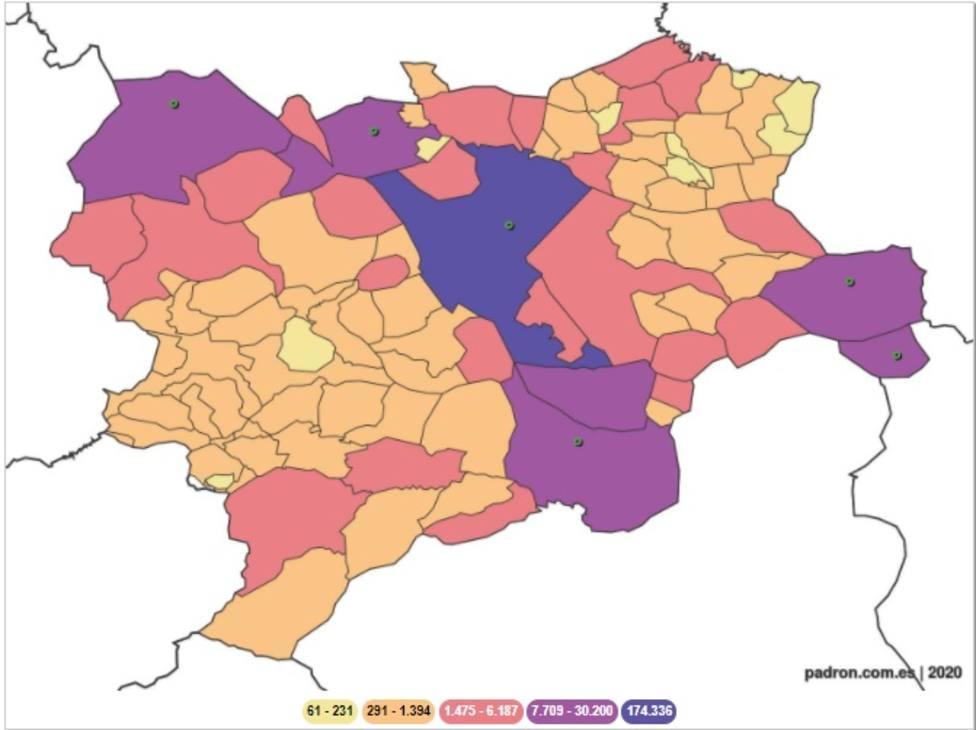 Mapa Padrón 2020 Albacete