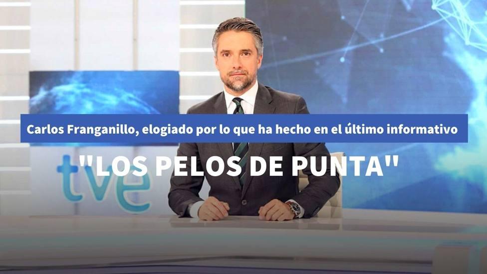"""Carlos Franganillo, elogiado por lo que ha hecho en el último Telediario de TVE: """"Los pelos de punta"""""""