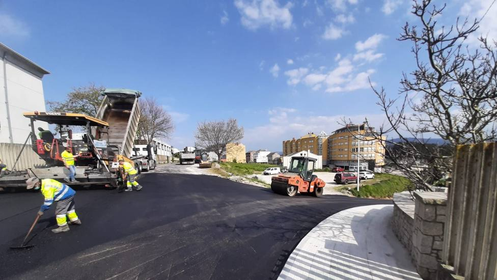 Mejora de la calle que da acceso al IES de Foz