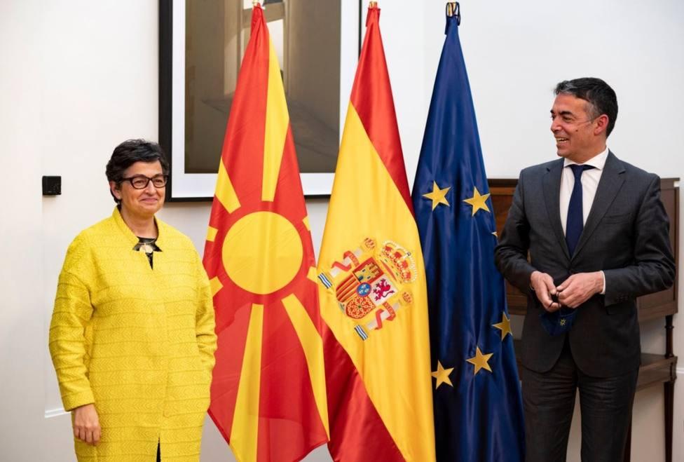 España reafirma su apoyo a la adhesión de Macedonia del Norte a la UE
