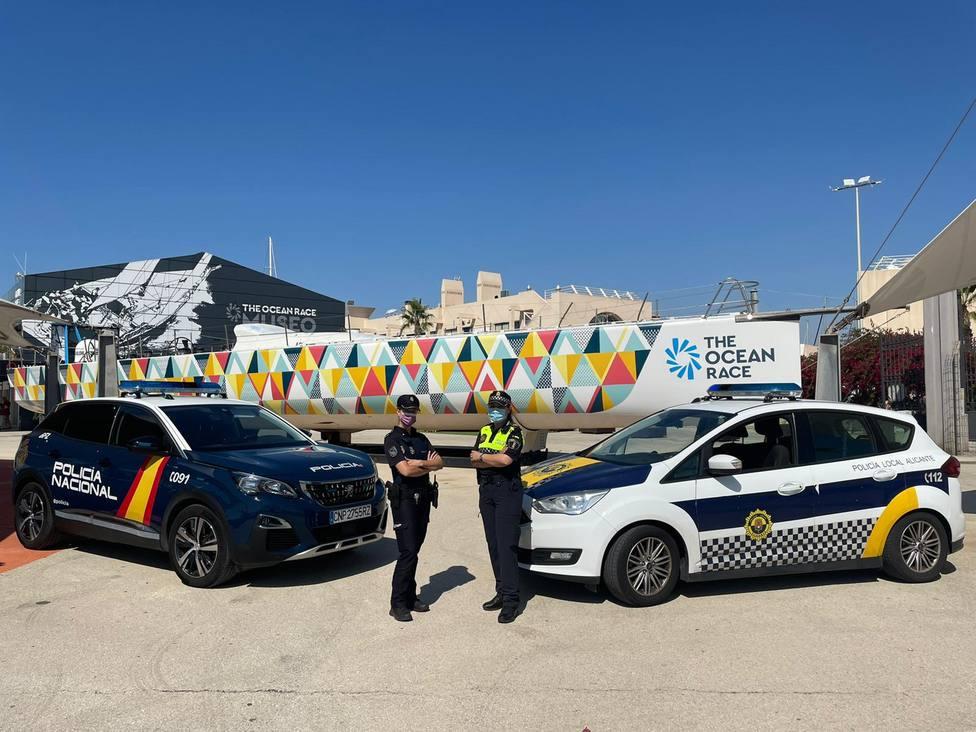 Un amplio dispositivo anticovid y medio millar de policías reciben en Alicante a The Ocean Race Europe