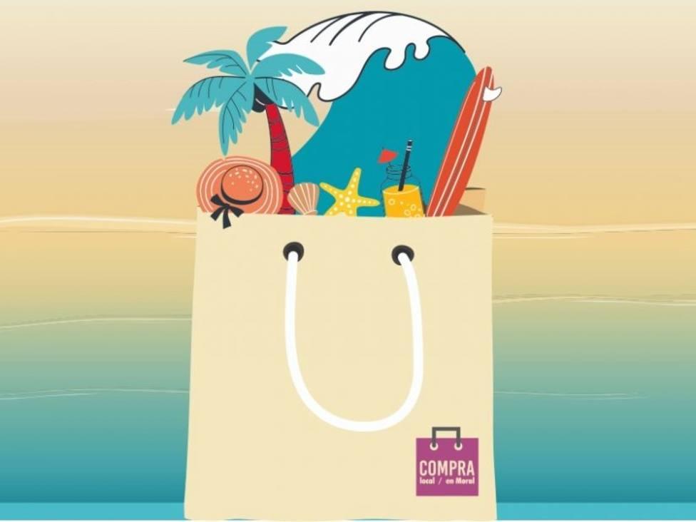 Cartel de la campaña de promoción del comercio en verano