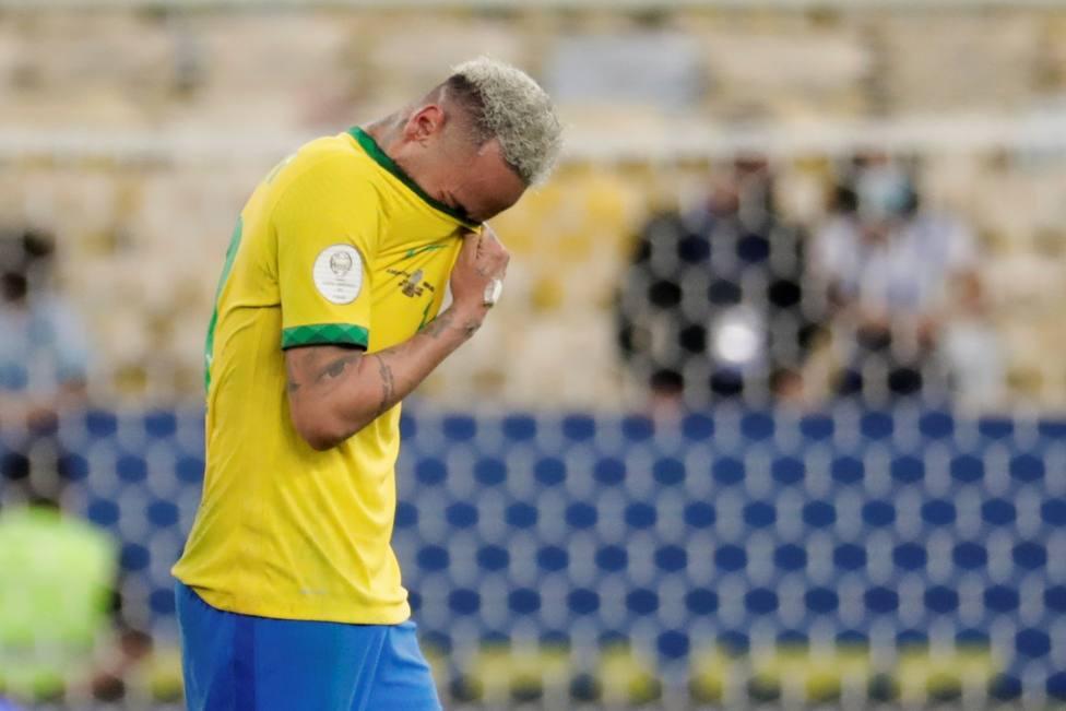 Neymar tras perder la final de la Copa América ante Argentina.