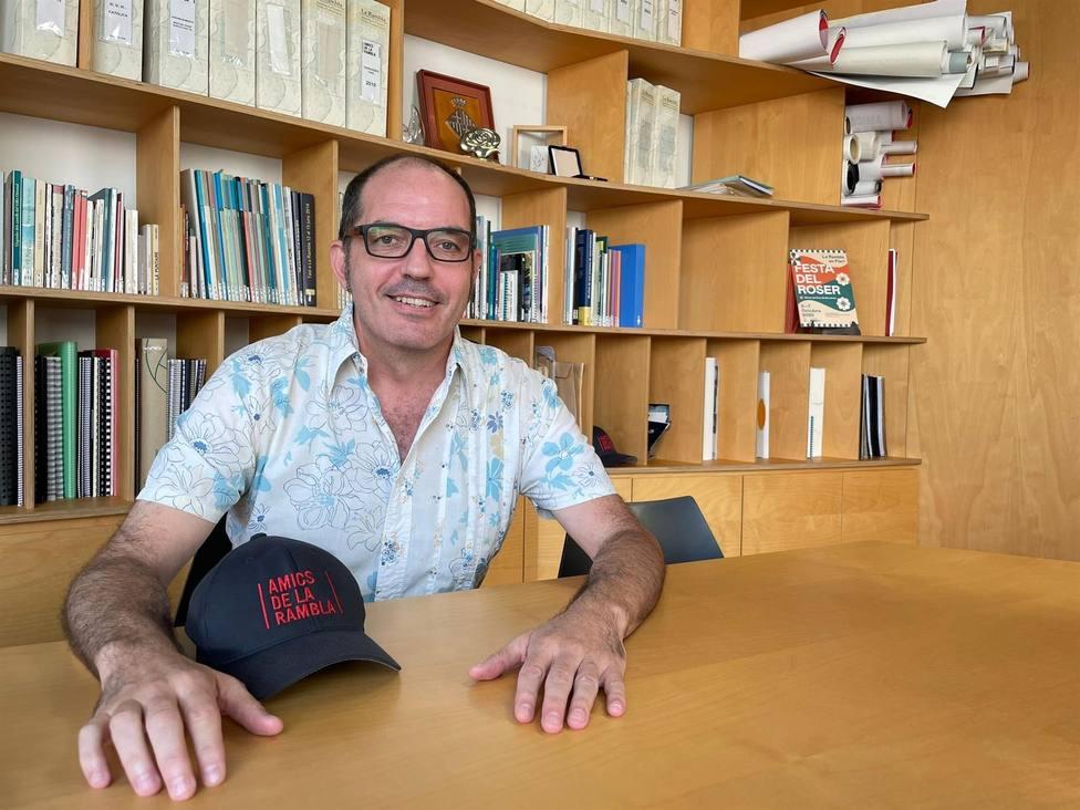 El presidente de la asociación Amics de La Rambla, Fermín Villar, en una entrevista de Europa Press