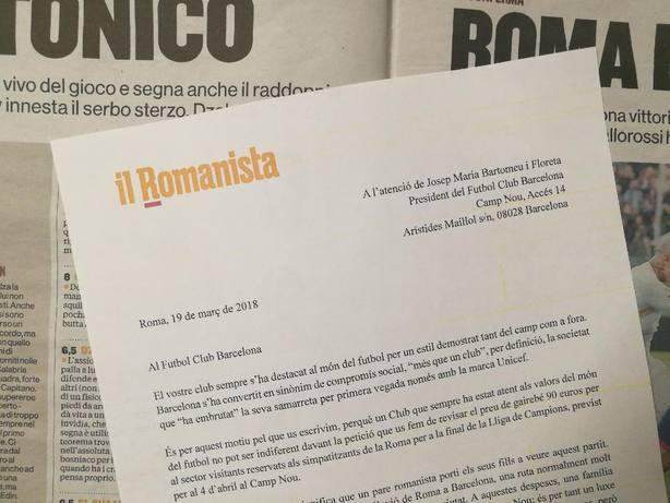 Carta de Il Romanista