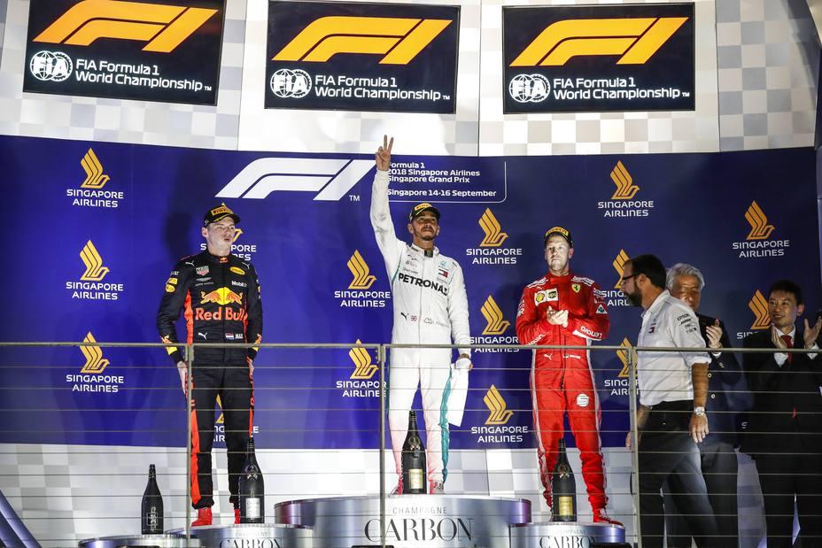 Podio GP Singapur