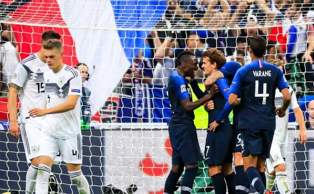 Francia celebra uno de los goles a Alemania (EFE)