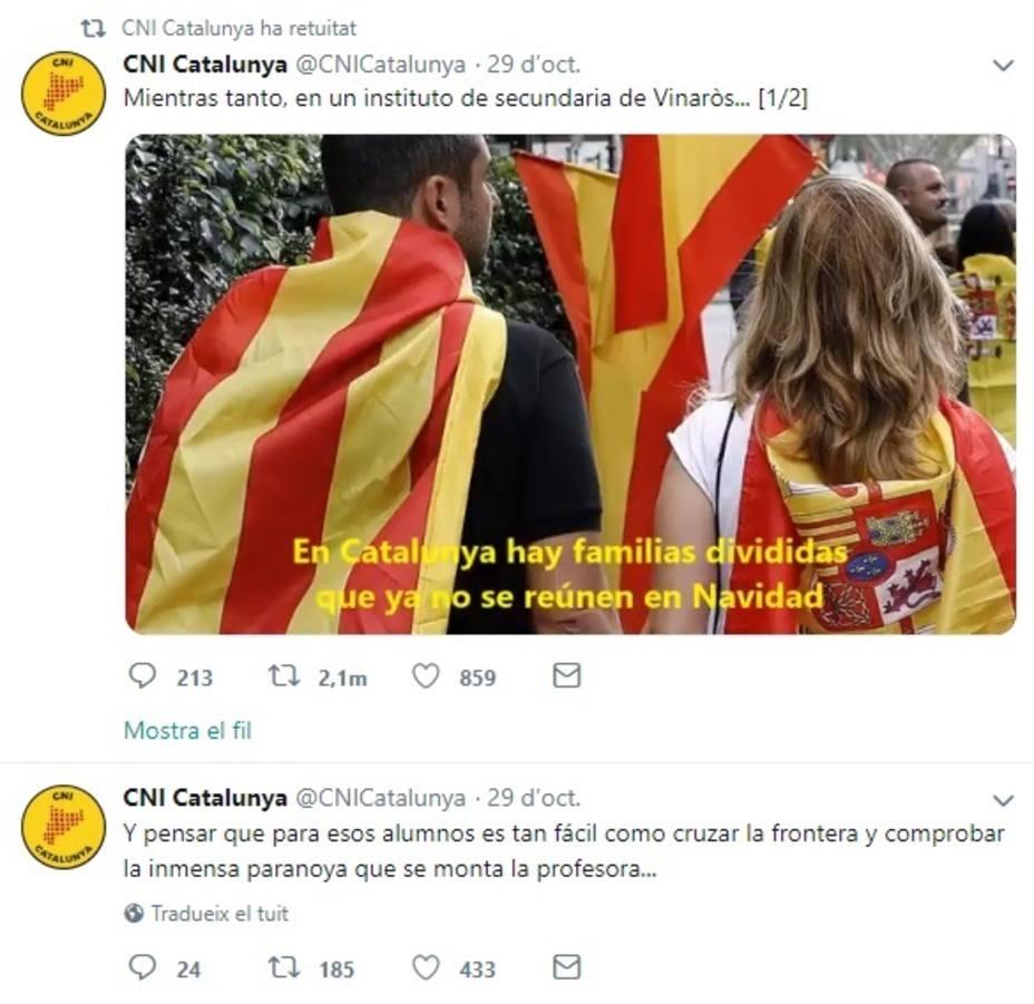 Difunden un vídeo con supuestas declaraciones catalanofóbicas de una profesora a dos alumnas en Vinaròs (Castellón)