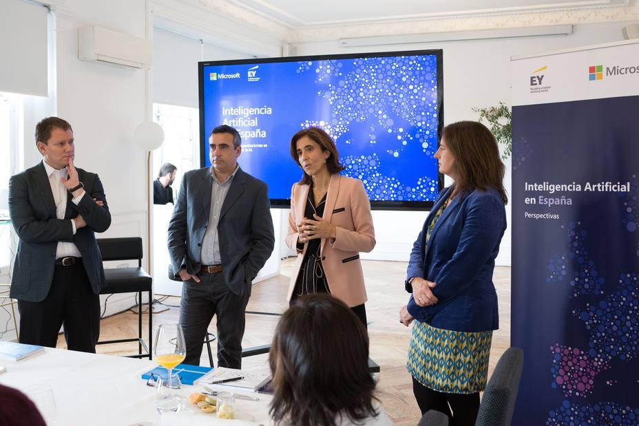 Solo un 20% de las empresas españolas cuenta con soluciones de IA en funcionamiento, según Microsoft y EY