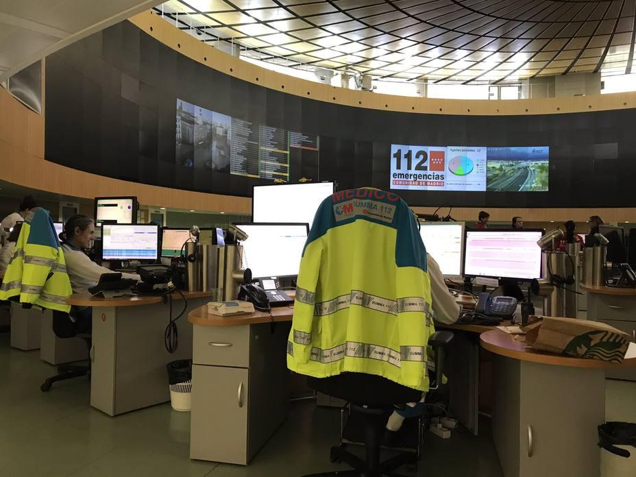 El servicios de emergencias 112 de la Comunidad de Madrid