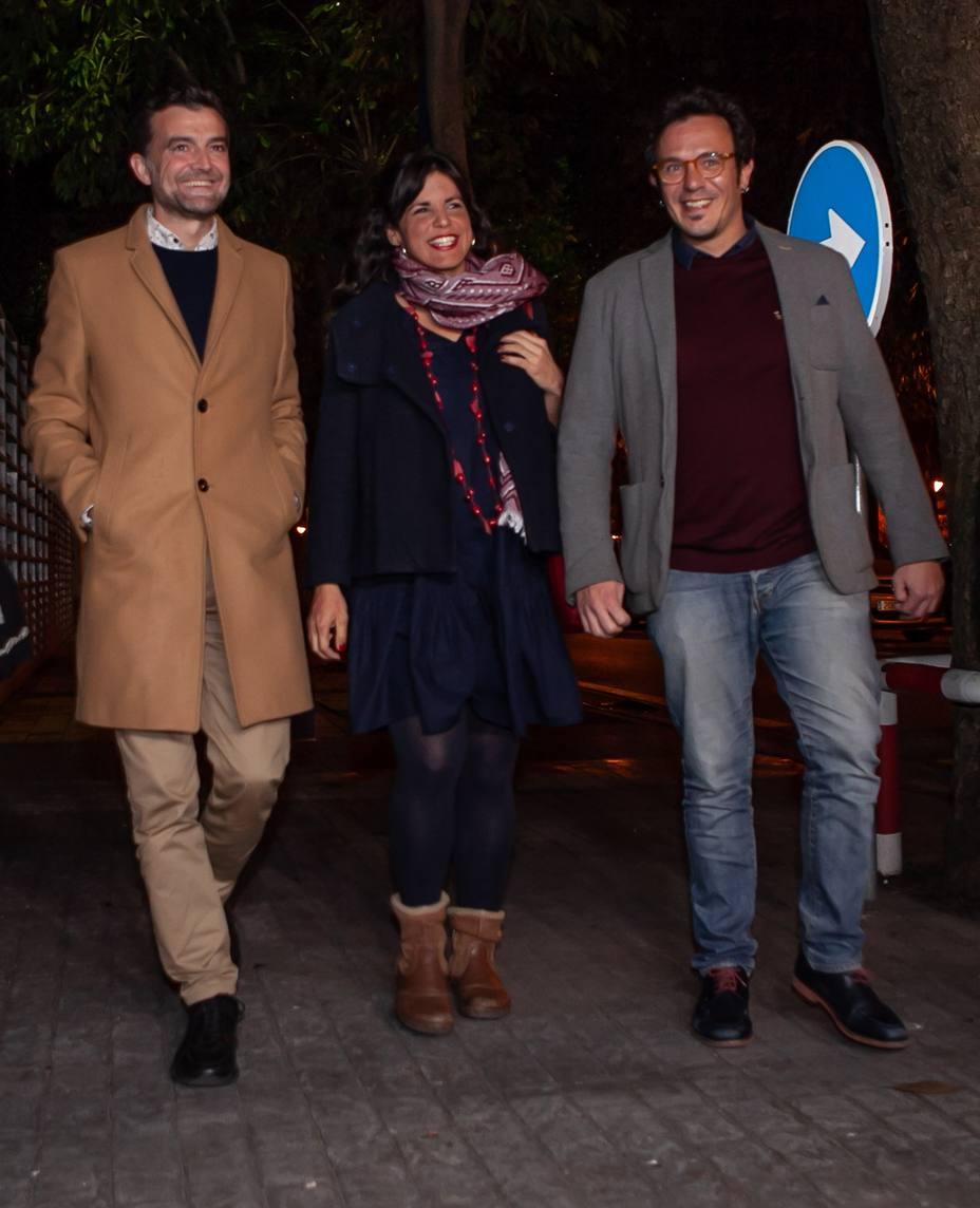 Teresa Rodríguez llega con buenas sensaciones a la Sala Cartuja para seguir la noche electoral