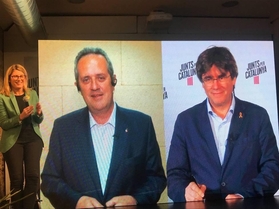 Puigdemont y Forn piden remachar la victoria del independentismo en las municipales y europeas