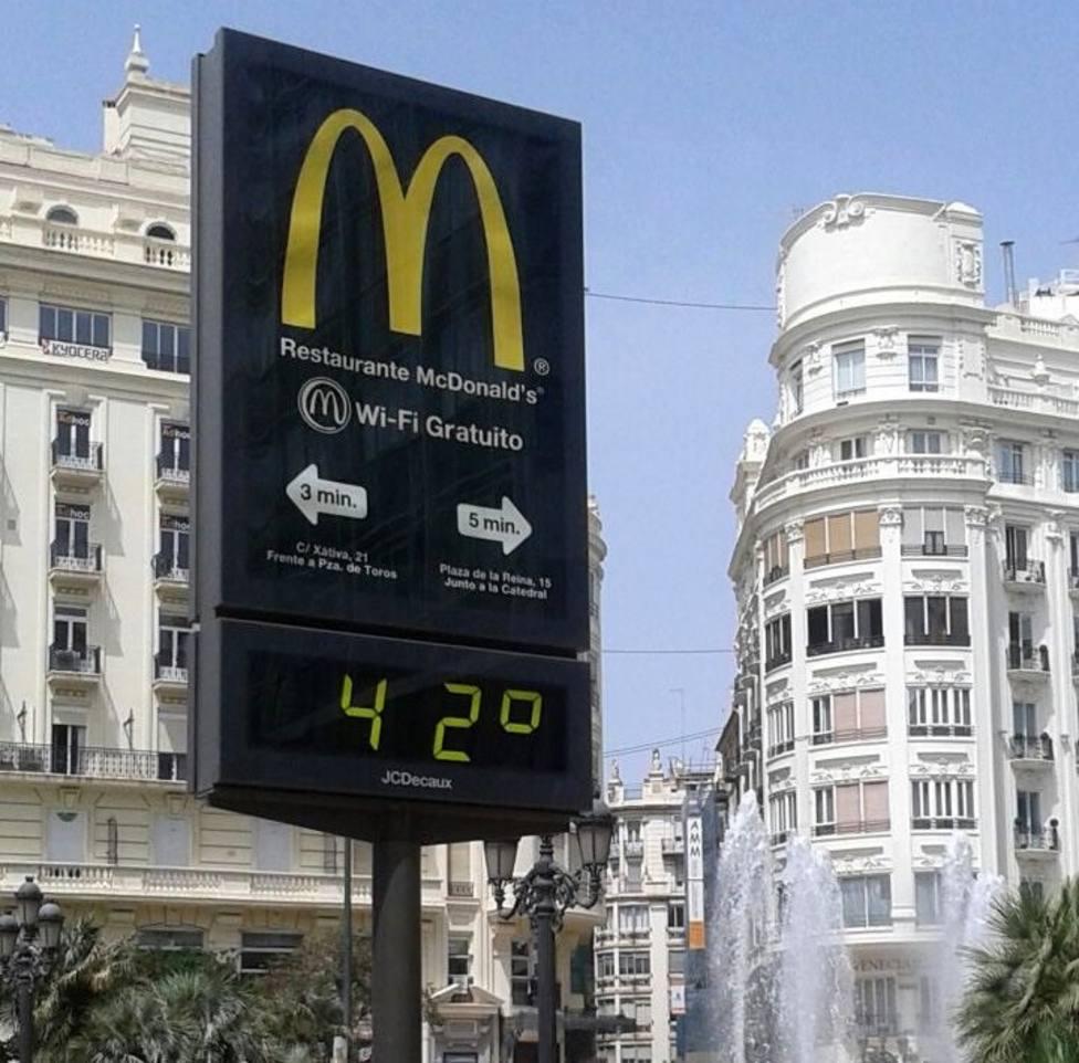 Temperaturas de hasta 42º