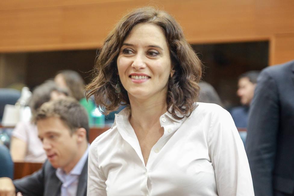 Isabel Díaz Ayuso, proclamada nueva presidenta de la Comunidad de Madrid con los votos de PP, Cs y Vox