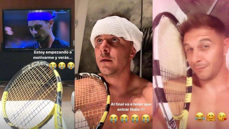 """El show de Joaquín en Instagram viendo a Nadal: """"Al final va"""