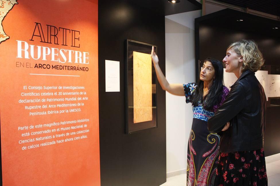 Muestra de arte rupestre en el Planetario de Castellón