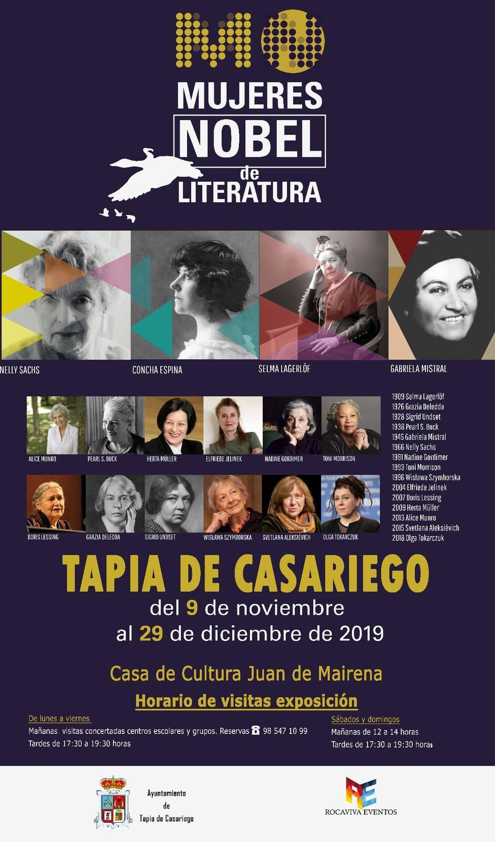 Cartel de la Exposición Mujeres Nobel