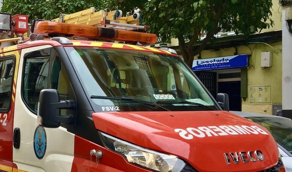 Trasladados al hospital nueve afectados en el incendio de una vivienda en Córdoba