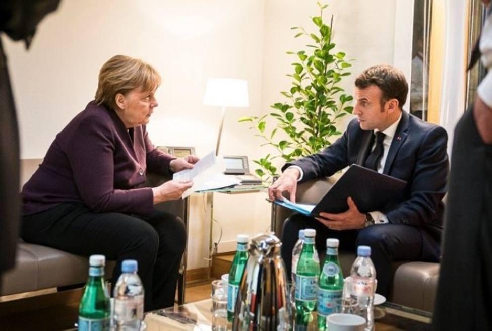 Merkel y Macron exigen a Putin el cese de los combates en Idlib
