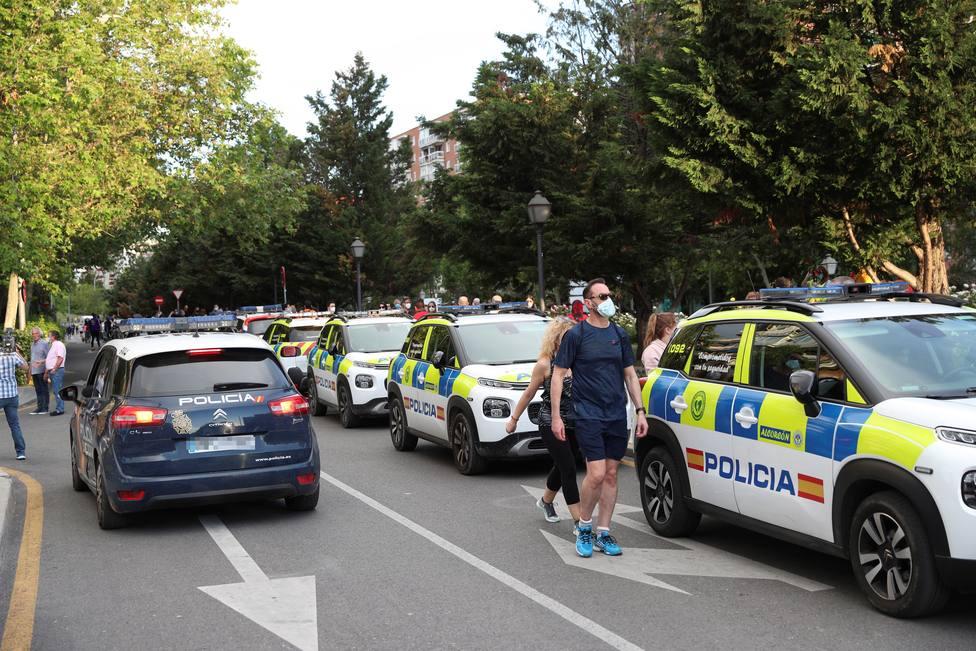 Un amplio dispositivo policial frena la décima jornada de protestas en Madrid