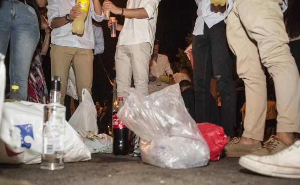 En Jaén el botellón está prohibido desde antes de comenzar la crisis sanitaria y se sanciona desde hace meses