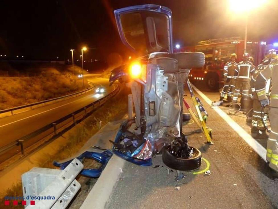 Sucesos.- Detenido un conductor ebrio que causó un accidente múltiple en La Canonja (Tarragona)
