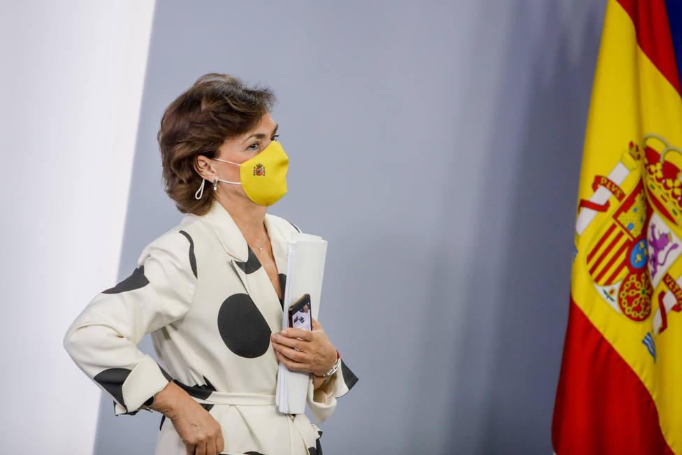 Carmen Calvo no descarta la prórroga de los PGE por el escaso margen de tiempo con el que cuenta el Gobierno