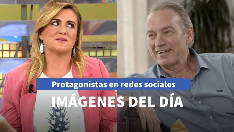 Imágenes del día: el nuevo reto televisivo de Carlota Corredera y el café de Bertín Osborne con Bustamante