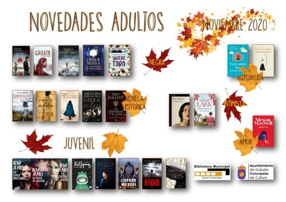 Novedades biblioteca Guijuelo