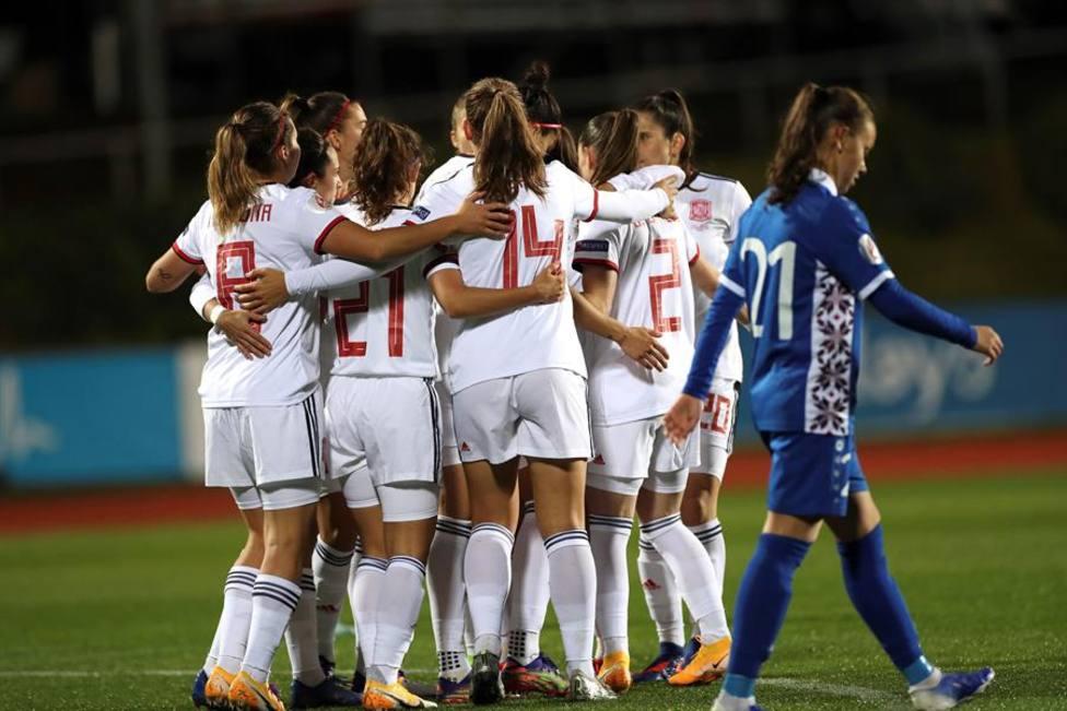 España golea 10-0 a Moldavia y da otro paso hacia la Eurocopa 2022